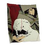 Jesus Y Mary Magdalene Burlap Throw Pillow