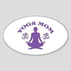 Yoga Mom Sticker (Oval)