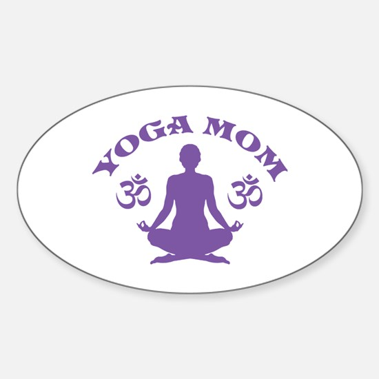 Yoga Mom Sticker (Oval)