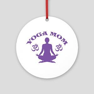 Yoga Mom Ornament (Round)
