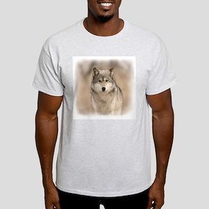 """""""Bright Eyes"""" Wolf Apparel Ash Grey T-Shirt"""