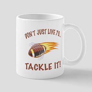 Tackle 70 Football Bday Mug