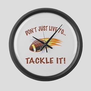 Tackle 70 Football Bday Large Wall Clock