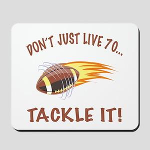 Tackle 70 Football Bday Mousepad