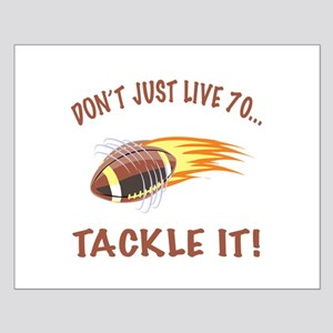 Tackle 70 Football Bday Small Poster