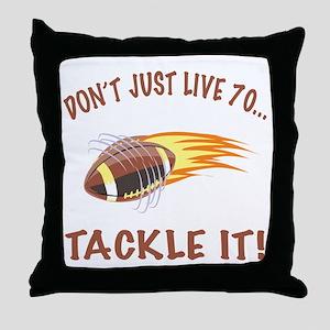 Tackle 70 Football Bday Throw Pillow