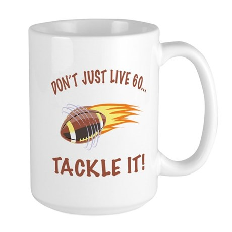Tackle 60 Football Bday Large Mug