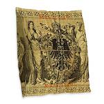1,000 Reichsbanknote Burlap Throw Pillow
