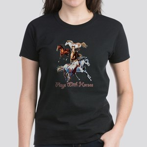 Plays With Horses Women's Dark T-Shirt