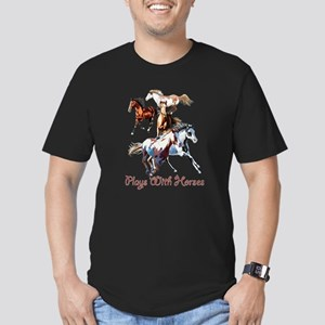 Plays With Horses Men's Fitted T-Shirt (dark)