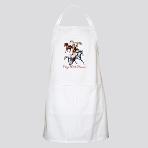 Plays With Horses Apron
