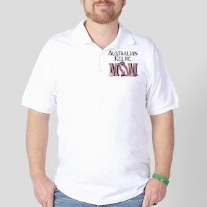 Australian Kelpie MOM Golf Shirt