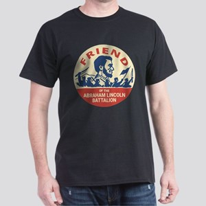 Abraham Lincoln Brigade Anti-fascist Badge T-Shirt