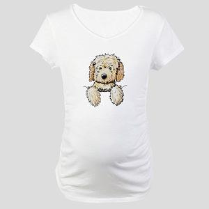Pocket Doodle Pup Maternity T-Shirt
