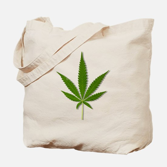 Marijuana Leaf Tote Bag