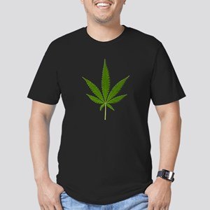 Marijuana Leaf Men's Fitted T-Shirt (dark)