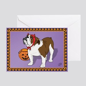 Halloween Bulldog Greeting Card