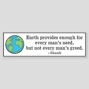 Ghandi Earth Quote Sticker (Bumper)