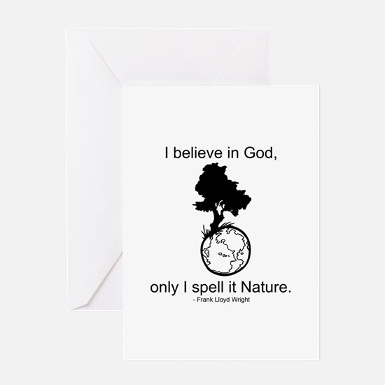 I believe in God... Greeting Card