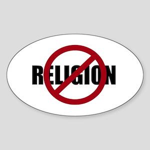 Anti-religion Sticker (Oval)
