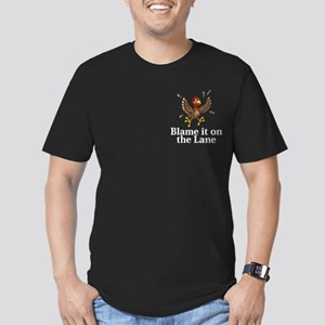 Blame It On The Lane Logo 14 Men's Fitted T-Shirt