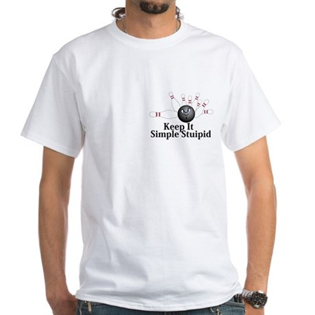 Keep It Simple Stupid Logo 6 White T-Shirt Design