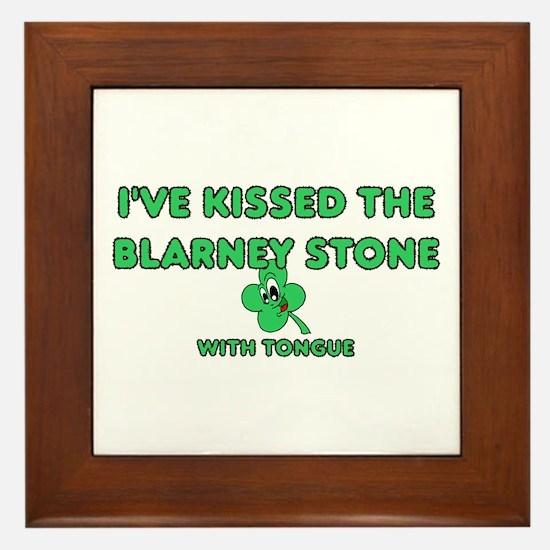 I've Kissed The Blarney Stone Framed Tile