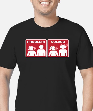 Problem Solved Men's Fitted T-Shirt (dark)