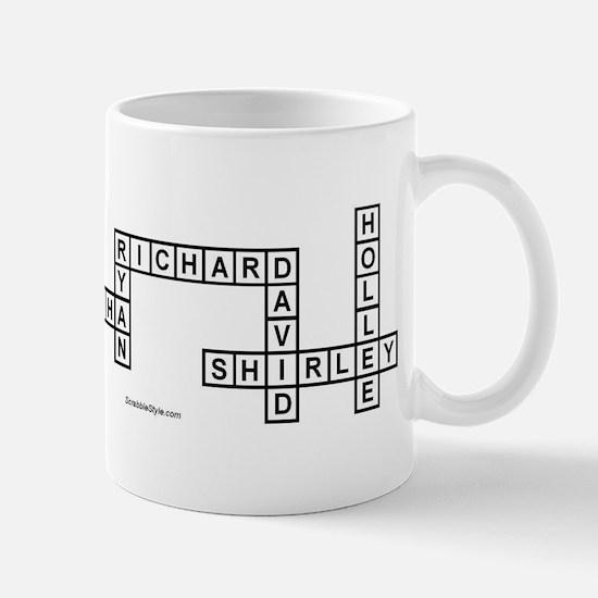 NIEMANN SCRABBLE-STYLE Large Mugs