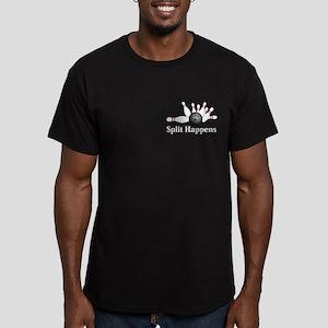 Split Happens Logo 2 Men's Fitted T-Shirt (dark) D
