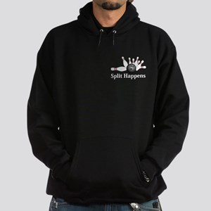 Split Happens Logo 2 Hoodie (dark) Design Front Po