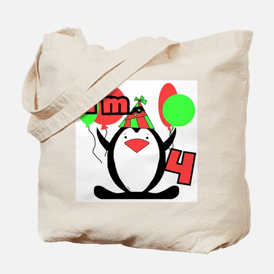 4th Party Penguin Tote Bag