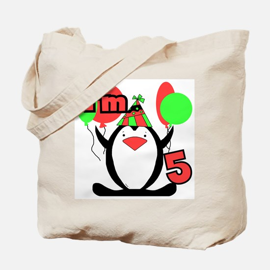 5th Party Penguin Tote Bag