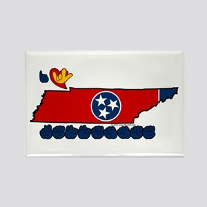 ILY Tennessee Rectangle Magnet