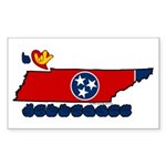 ILY Tennessee Sticker (Rectangle)