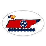 ILY Tennessee Sticker (Oval 50 pk)