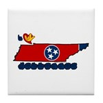 ILY Tennessee Tile Coaster