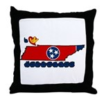 ILY Tennessee Throw Pillow