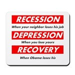 Recession Depression Recovery Mousepad