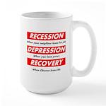 Recession Depression Recovery Large Mug