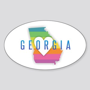 Georgia Heart Rainbow Sticker