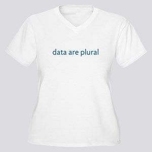 data are plural Women's Plus Size V-Neck T-Shirt