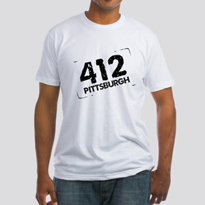 412 Pittsburgh Fitted T-Shirt