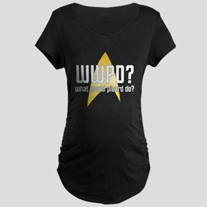 Star Trek: WWPD? Maternity Dark T-Shirt
