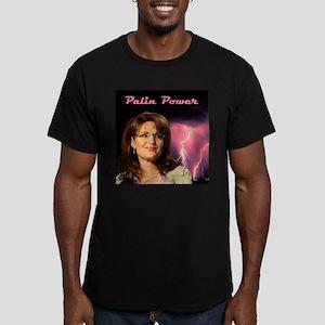 Palin Power Men's Fitted T-Shirt (dark)