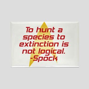 Star Trek: Spock Quote Rectangle Magnet