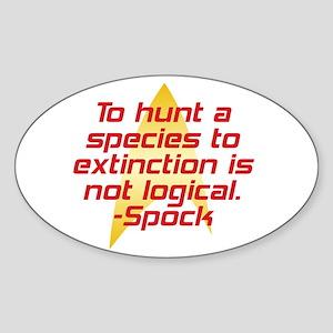 Star Trek: Spock Quote Sticker (Oval)