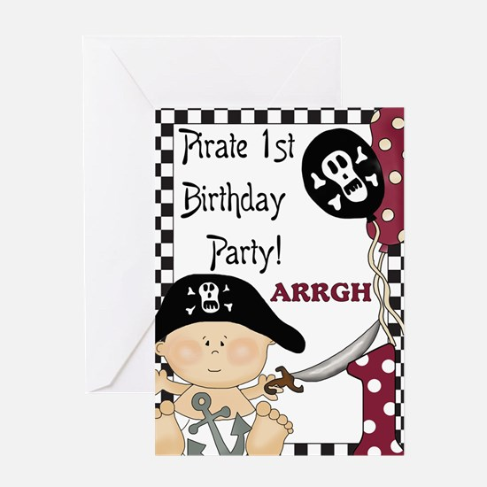 Baby Pirate 1st Greeting Card
