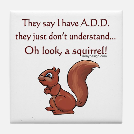 ADD Squirrel Tile Coaster