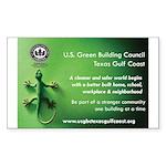 USGBC TGCC Lizard Sticker (Rectangle 50 pk)